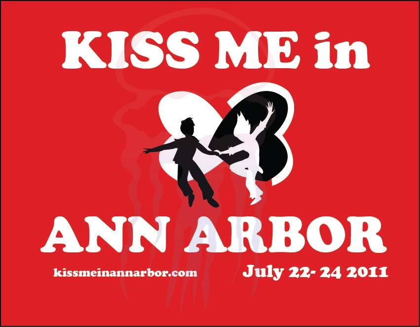 KissME in Ann Arbor Postcard Design Year 3 - 2011