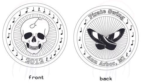 Pirate Swing souvenir coin design Year 3 - 2012