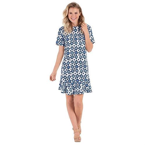 Flounce Navy Dress
