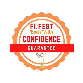 Red and Orange Illustrated Badge Food Fe