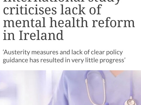 Is Ireland thinking about staff mental health and wellbeing as well, as services struggle?