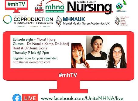 Moral Injury: Natalie and Anna to talk on Unite/Mental Health Nurses Association #mhTV
