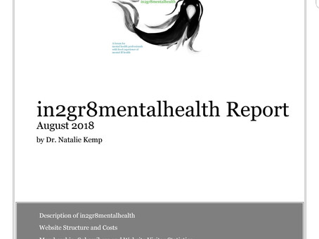 In2gr8mentalhealth Report Available To The Membership