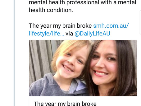 The felt shame of being a mental health professional with a mental health condition