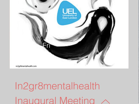 Thirty tickets released for the first in2gr8mentalhealth meeting, April 17th at UEL