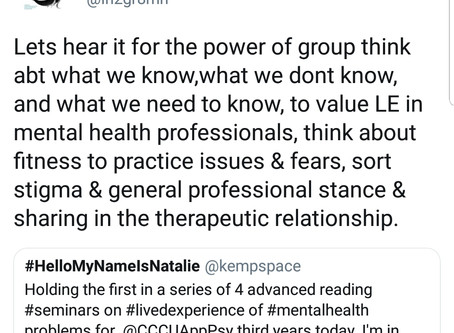 Advanced Reading Seminars on Lived Experience in the Mental Health Professions