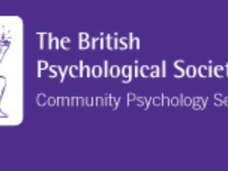 Speaking at the British Psychological Society Community Psychology Festival 2018