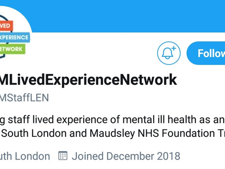 South London and Maudsley NHS Trust Launch Lived Experience Professionals (LEN) Network!