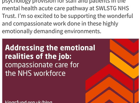 Compassionate care for the NHS workforce