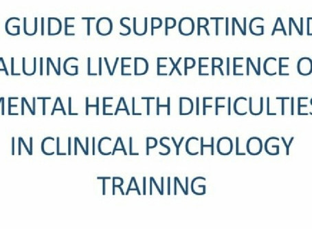 Guide is on its way: supporting and valuing lived experience in clinical psychology training