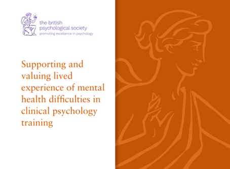 BPS guidance published: Supporting and valuing lived experience in clinical psychology training