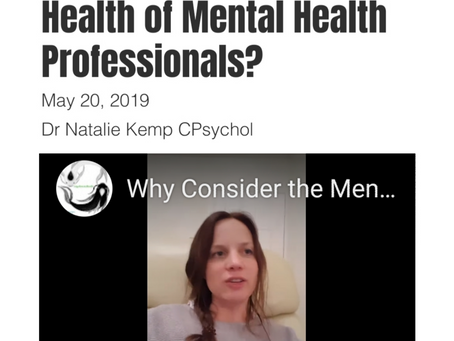Why Must We Consider The Mental Health and Wellbeing Of Mental Health Professionals?