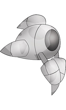 Little Drone 2 Vector Image