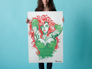 poster-mockup-of-pretty-girl-over-a-blue