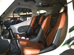 Leather seats in our Remos