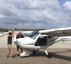 Zach doing his Pre-Flight