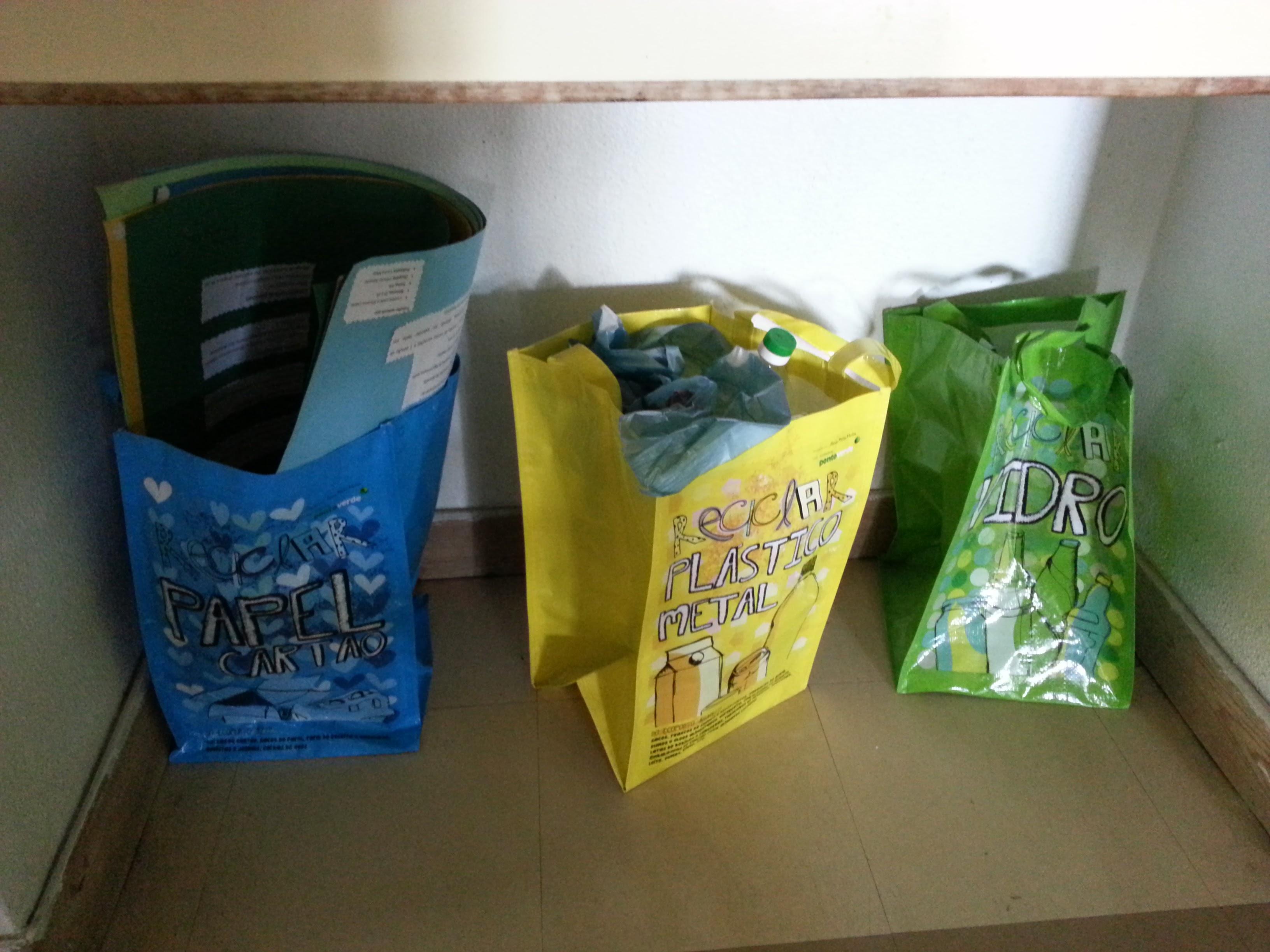 Separação de resíduos