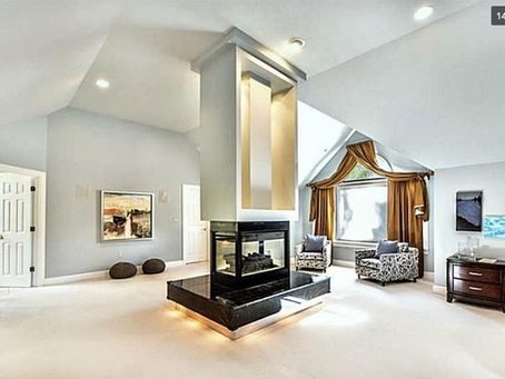 What to do with a fireplace in the middle of a room?