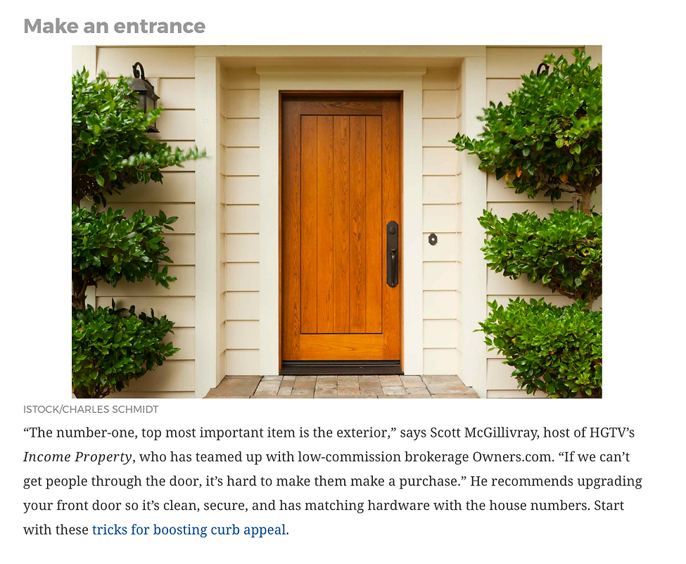 Readers Digest Article, 12 Decorating Tips That Sell You House Fast, Laura Bonucchi, Designed to Sell Homes, LLC