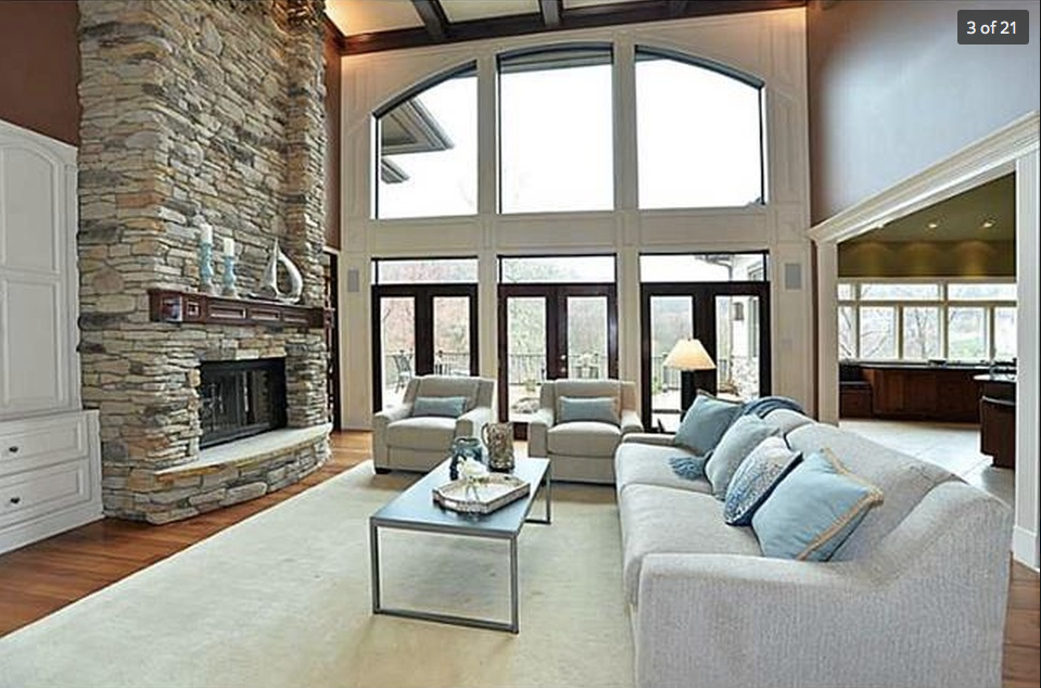 Living Room with Spectacular Lakefront Views