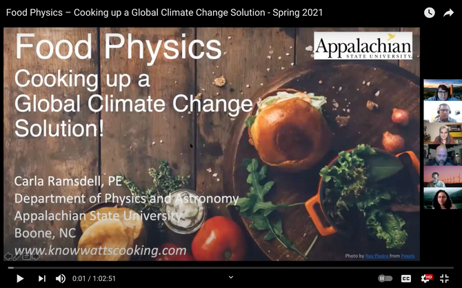 Food Physics - Cooking up a Global Climate Change Solution!