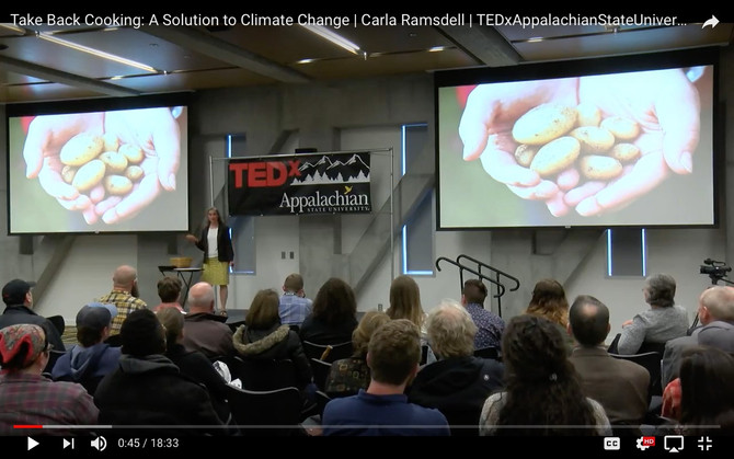 My TEDx Talk: Take Back Cooking - A Delicious Climate Change Solution