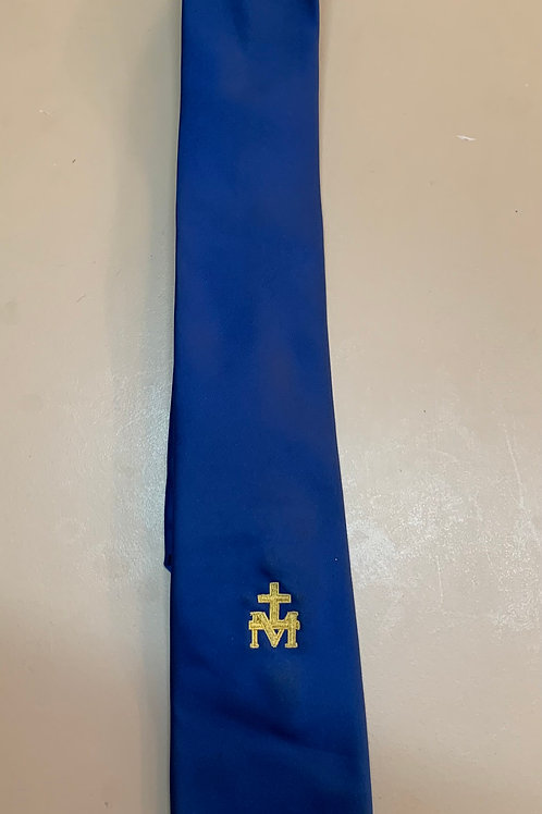 Royal Blue Tie with School Logo yr 11 and 12
