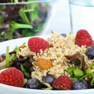 Kale, Quinoa, and Berry Salad