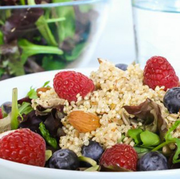 Kale, Quinoa, and Berry Salad