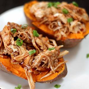 BBQ Chicken Stuffed Sweet Potato