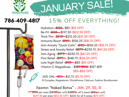 Last Days of JANUARY SPECIAL DISCOUNTS