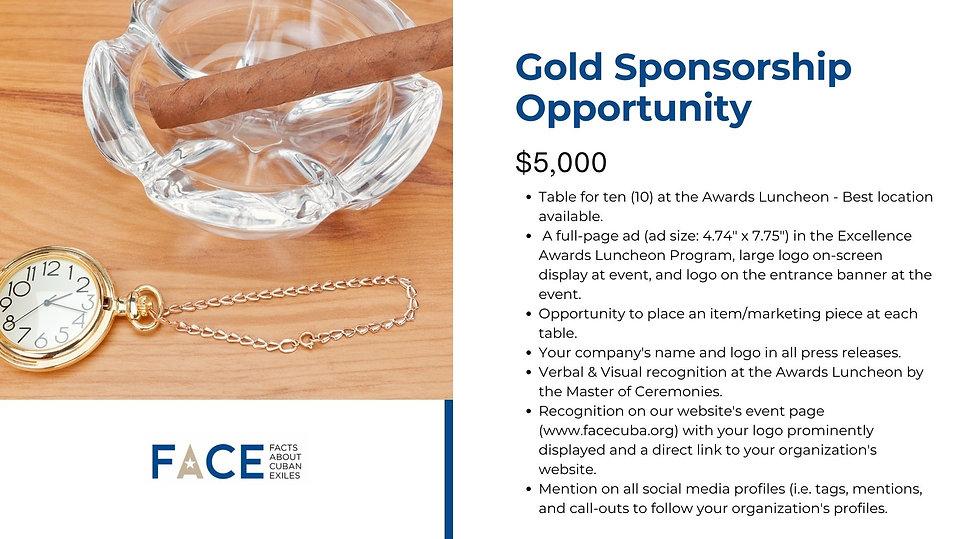 2021 FACE Excellence Awards Gold Sponsorship