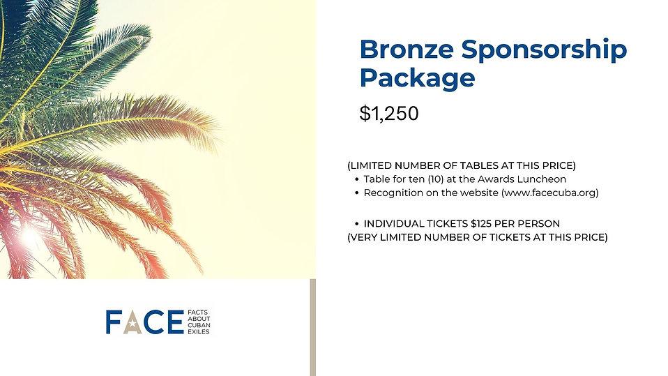 2021 FACE Excellence Awards Bronze Sponsorship