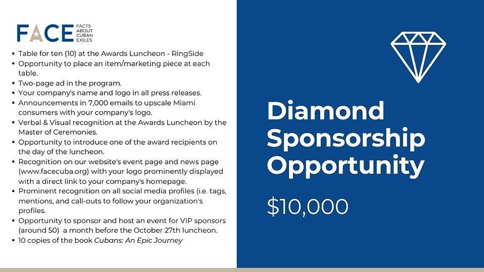2021 FACE Excellence Awards Diamond Sponsorship