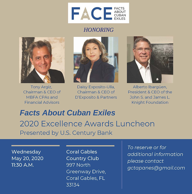 2020 FACE Excellence Awards Luncheon Inv