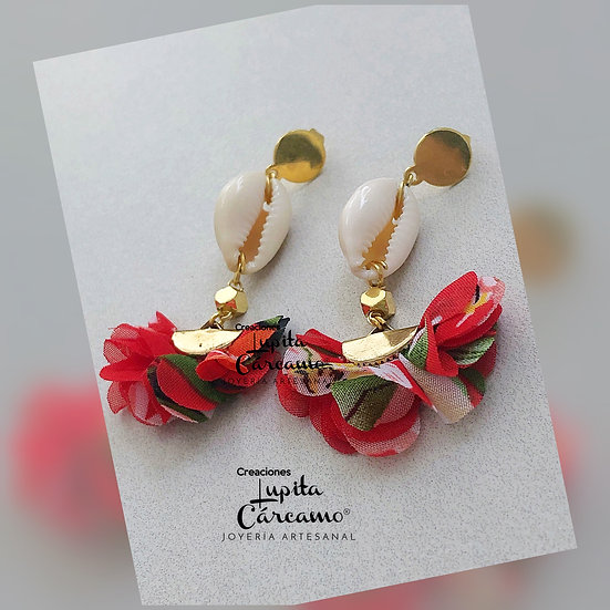 Aretes caracol chic