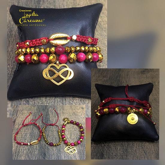 Set pulseras amor infinito