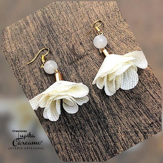Aretes Primavera/ Jade blanco