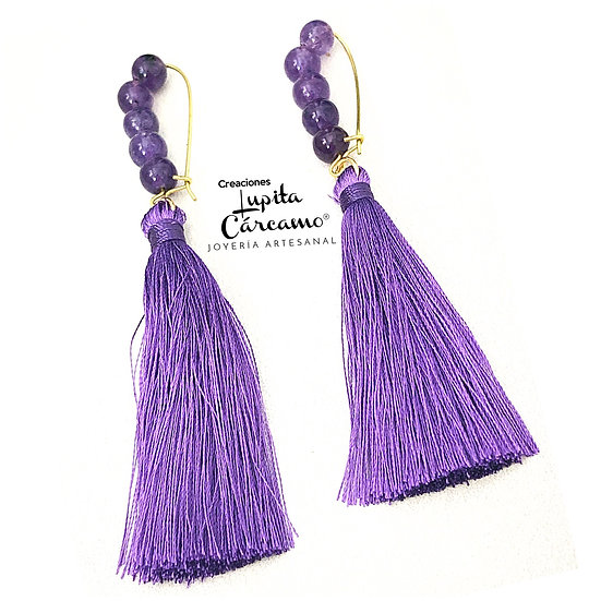 Aretes Amatista Diference