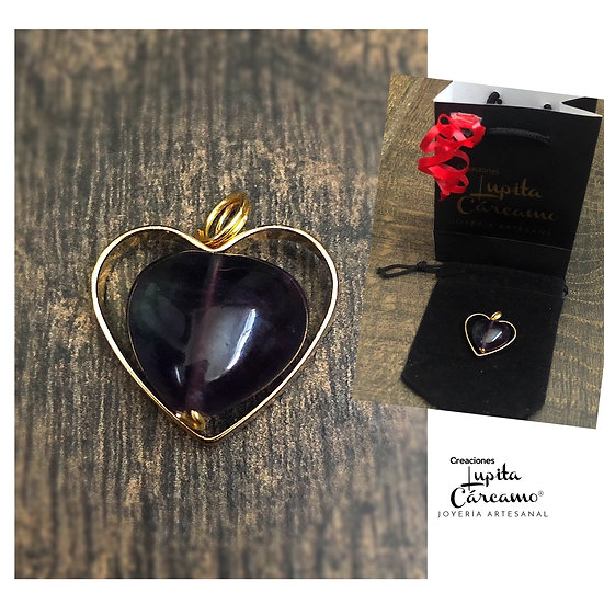 Comgante Heart ( Fluorita )