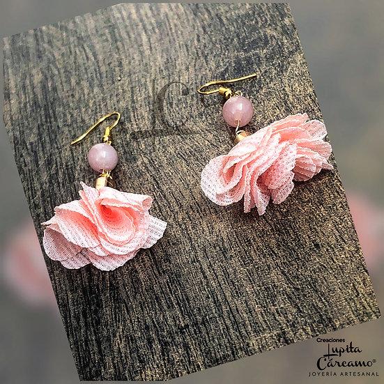 Aretes Primavera/cuarzo rosa