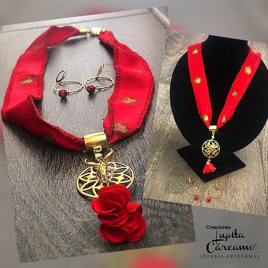 Collar Buena Vibra ( Incluye Aretes)