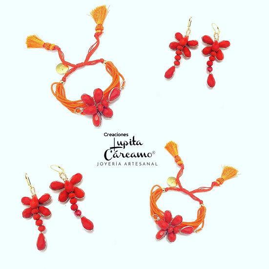 Conjunto Eccezionale libélula naranja