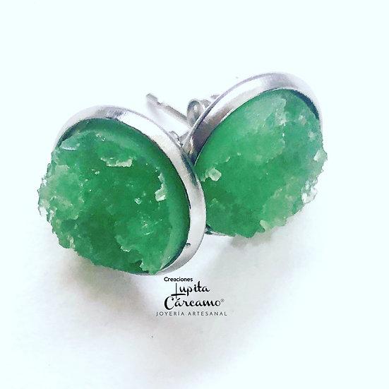 Aretes Druz ( ( verde)