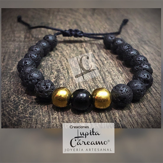 Pulso black & gold