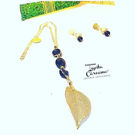 Corbatín black leave ( 2 piezas)