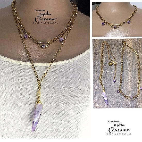 Conjunto Amatista Fashion ( 2 piezas)