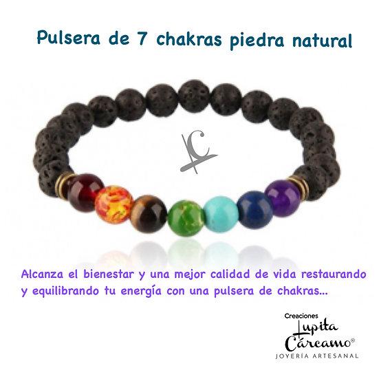 Pulsera 7 chakras elástica