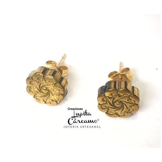 Aretes Flori ( dorados)
