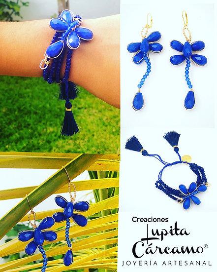 Conjunto Eccezionale Libélula Azul